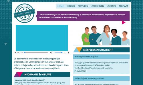 Een nieuwe website voor Stadsleerbedrijf Helmond