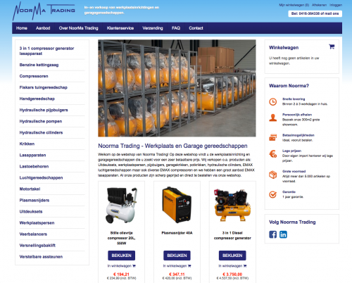 Een nieuwe webshop voor Noorma Trading