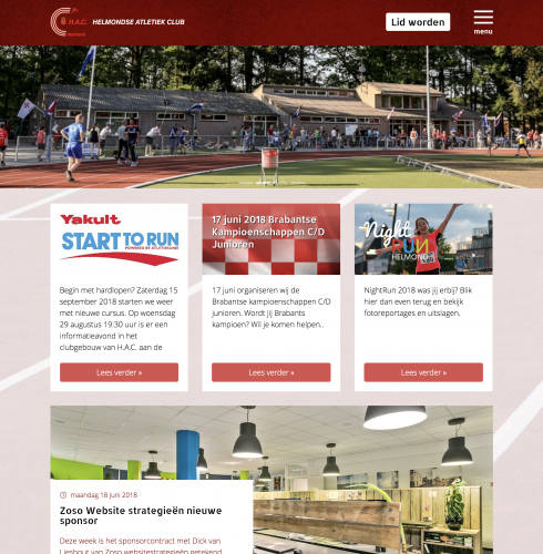 Een nieuwe website en sponsor voor HAC Helmond!