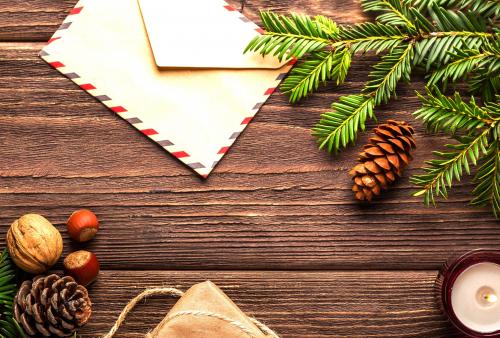 Zeg het met een (kerst)-kaart